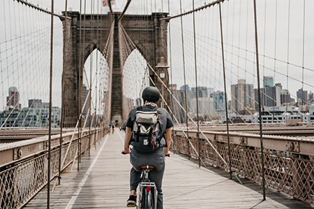 casque vélo vintage new york city
