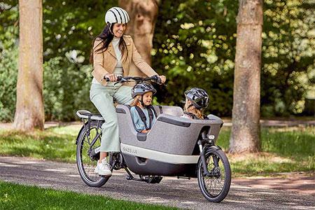 Vélo cargo électrique Gazelle Makki C380 HMB : innovation 2021
